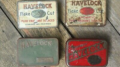 4 × different Havelock tobacco tins by B.A.T.Melbourne.