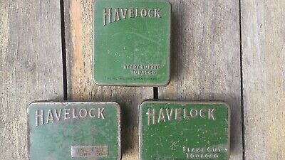 Havelock tobacco tins. A matching set of 3 (Fine Cut, Flake Cut, Ready Rubbed).
