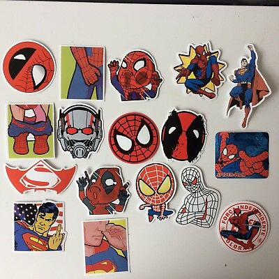 17 AUTOCOLLANTS STICKERS SPIDERMAN DÉCALÉS/ 17 Humorous Spiderman Stickers