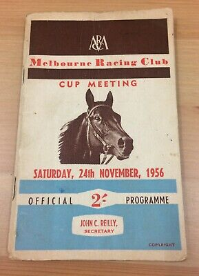 MRC's 1956 Williamstown Cup race book November 1956 - FAREWELL to Rising Fast
