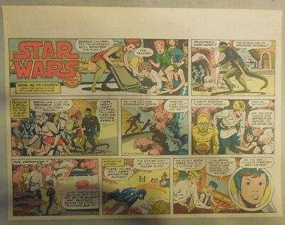 Star Wars Sunday Page #51 by Russ Manning from 3/2/1980 Large Half Page Size!