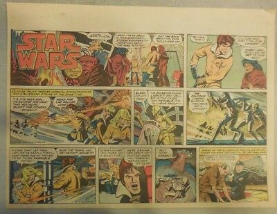 Star Wars Sunday Page #47 by Russ Manning from 1/27/1980 Large Half Page Size!