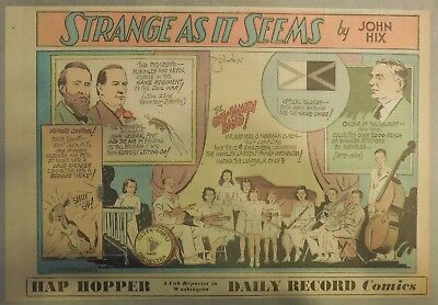 Strange As It Seems: Presidents McKinley & Hayes, Family Band by Hix from 1951
