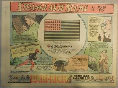 Strange As It Seems: American Flag, Skating Record by Hix from 1951