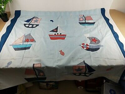 Pair of Homemade Children's / Nursery Curtains, heavy cotton, blackout lined.