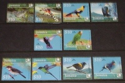 Jamaica $10 birds set. all mint unhinged.