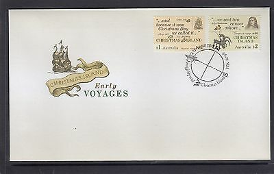 CHRISTMAS Island 2017 EARLY VOYAGES Design set of 2  on FDC - Early Explorers.