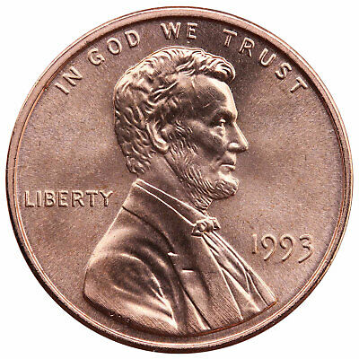 1993 Lincoln Memorial Cent Gem BU Penny US Coin
