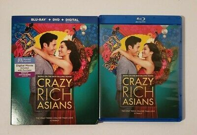 Crazy Rich Asians Blu-ray & DVD Never Watched w/slipcover No Digital Copy