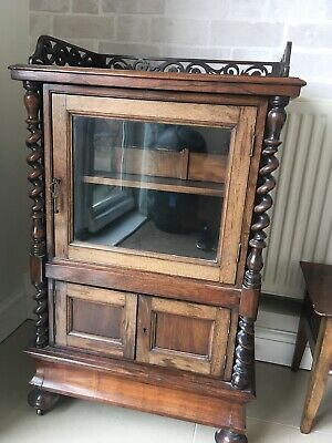 Antique Victorian Mahogany Music Cabinet