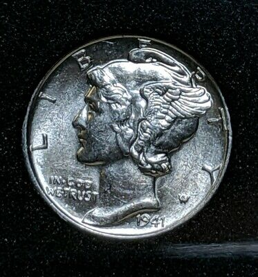 1941-P Mercury Dime (AU) Almost Uncirculated 90% Silver United States Mint Coin