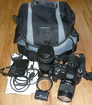 Sony Alpha A200  Digital SLR Camera - Black  outfit complete with extra lens