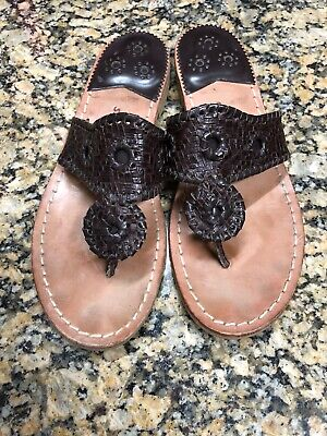 451862e6e584 JACK ROGERS BROWN Wedge Sandals, Size 8 New Without Box - $31.00 ...