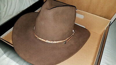 c353339d1fc1a RESISTOL 4X BEAVER Self Conforming Western Cowboy Hat Size 7 Brown ...