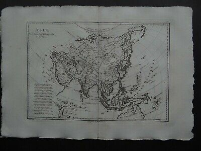 1787 Bonne Desmarest  Atlas map  ASIA - ASIE - India China Japan Korea Tartarie