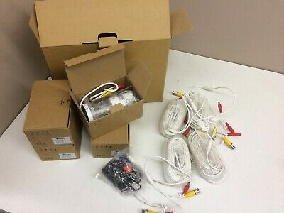Cables LOT of 4 New Swann SWPRO-540CAM CCTV Security Camera AC Adapter