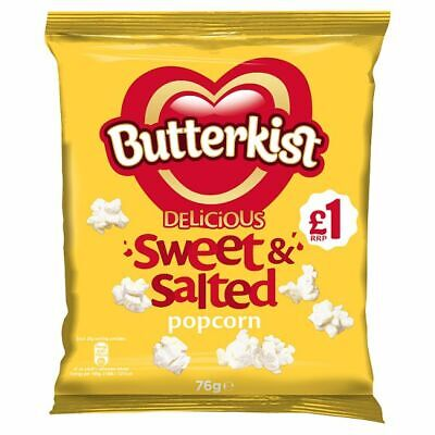 Butterkist Delicious Sweet & Salted Popcorn Full Case 12 x 76g