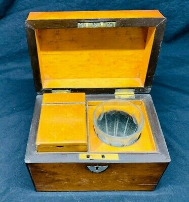 Vintage Lovely Quality Regency Antique Small Single Tea Caddy