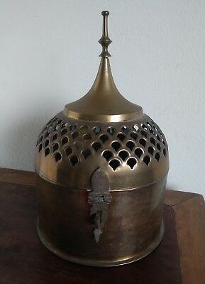 Antique Asian Saks Fifth Avenue Brass Cricket Cage