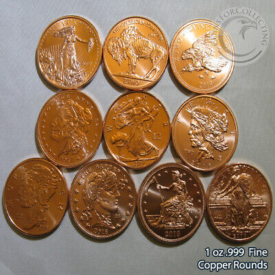 """Zombucks Set"" 9 of the set Rounds 1 oz .999 Copper Rounds Limited & Rare"