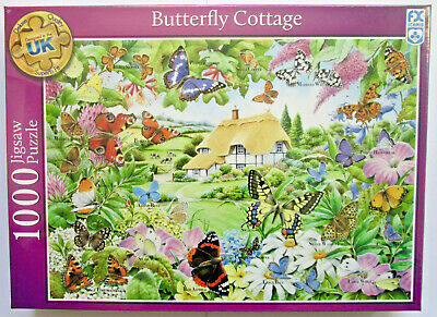 Butterfly Cottage 1000 Piece Jigsaw Puzzle by FX Schmid ~ New