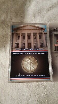 Nicely Displayed 2012 Silver American Eagle Minted In San Francisco - Bu #2