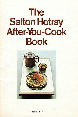 1970s era SALTON Hotray AFTER-YOU-COOK-BOOK 30+ pages - plus 2 additional pieces