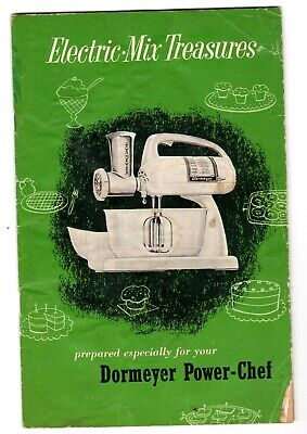 Manual Booklet for DORMEYER POWER-CHEF Electric Mixer, 36-pgs of recipes, tips