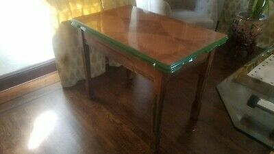 Rare Antique Kitchen Table Wood With Porcelain Enamel Top W 4 Chairs