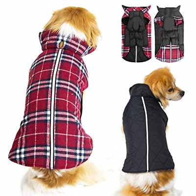 Dog Jackets and Sweater for Extra Small Dogs and Cats - Plaid Waterproof Dog -