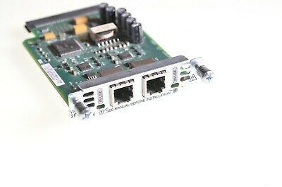 Cisco VIC2-2FXS Foreign Exchange Station Voice Interface Card Two Port FXS VIC