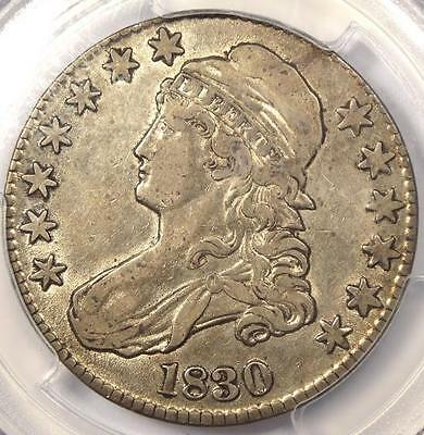 1830 Capped Bust Half Dollar 50C, Large 0 - PCGS XF45 (EF45) PQ - Rare Coin