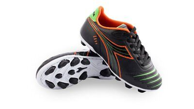 06916f69 DIADORA CATTURA MD Jr Black Orange Green Kids Youth Soccer Cleats