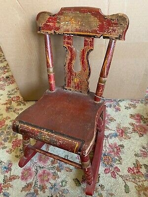 Incredible 1800S Antique Sewing Chair Small Rocking Chair 20X15 Spiritservingveterans Wood Chair Design Ideas Spiritservingveteransorg