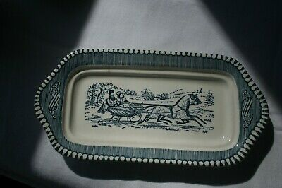 Royal Currier and Ives Butter Dish - not perfect