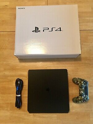 Sony Playstation 4 (PS4) slim 500MB Jet Black VG COND Limited Edition Controller