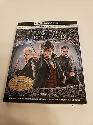 Fantastic Beasts:the Crimes Of Grindelwald(4K Ultra Hd+ Blu-Ray+Digital)W/Slip
