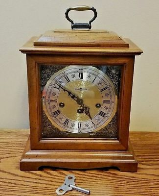 Vintage Howard Miller Mantle Carriage Clock Westminister Chimes Quarterly & Hour