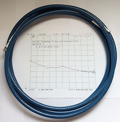 400cm Huber Suhner Sucoflex 104EA microwave coaxial 13Ft SMA 26Ghz RF Test cable