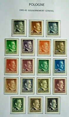 1941-1942 Complete Set 3Rd Reich Vf Mnh Germany Deutschland V140.22 Start 0.99$