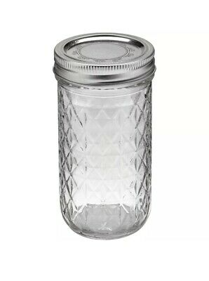 Ball Quilted Crystal Jelly Jar-3/4 Pint, 12oz Regular Mouth Bands And Dome Lids