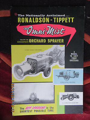 RONALDSON AND TIPPETT ADVERTISING SIGN-1950's- NEAR MINT