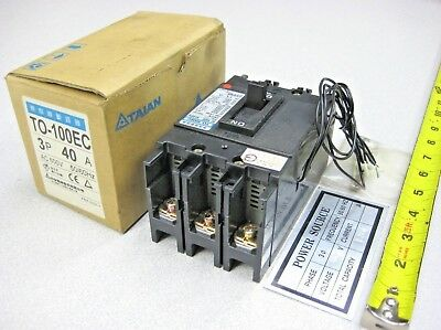 TAIAN / TECO TO-100EC Circuit Breaker 3 Phase Pole 40 Amp AC 600 Volt E type NEW