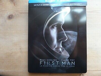 Blu-Ray Steelbook The First Man Damien Chazelle Ryan Gosling Comme Neuf 3 Oscars
