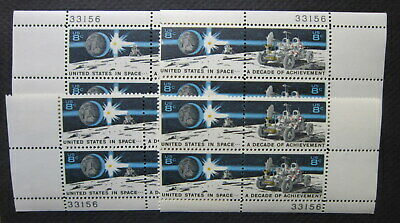 Scott #1434-5 8c Space Issue Matched Set Plate Blocks