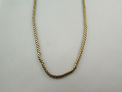 4f3a8e9ab65bd ANTIQUE VINTAGE 1/20 12 K GF Yellow Gold Filled Snake Chain 16 ...