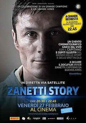 Affiches Javier Zanetti Story Inter Capitaine Soccer Football #1