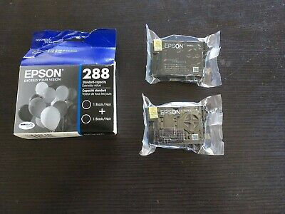 Two New Epson 288 Ink Cartridge Black Cartridge (Open box, but never used)