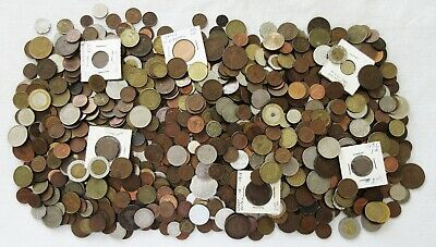 8+ POUNDS of OLD WORLD COINS > BIG LOT > VERY INTERESTING > SEE PICS > NO RSRV