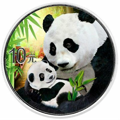 PANDA DAY COLOR - 2019 30 Grams Pure Silver Coin in Capsule - China